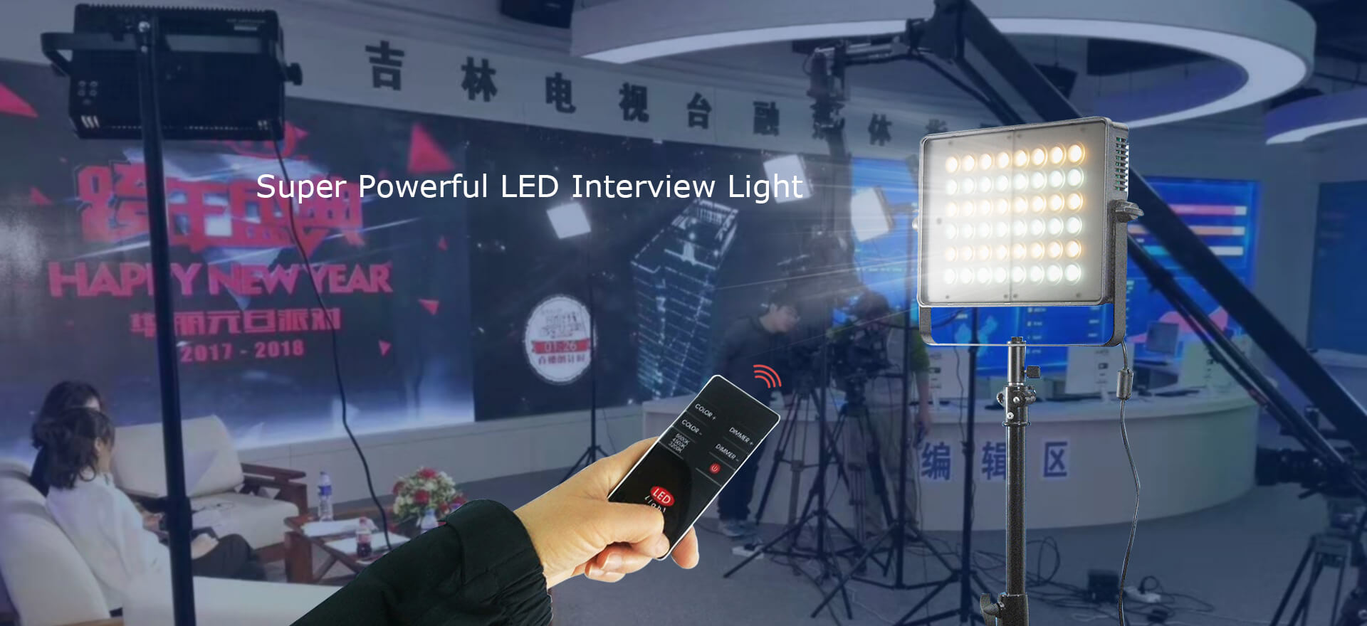 Super powerful high-power LED Video Lighting for interview